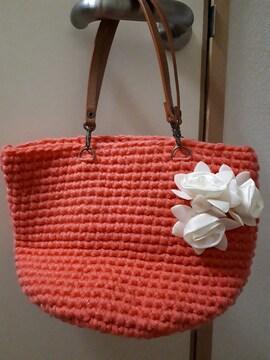 新品ハンドメイド手編みハンドバッグ