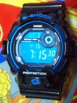 美品カシオG-SHOCK腕時計G-8900Aブラック×ブルー定価14850円