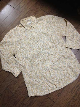 美品CIAO PANIC  7分丈花柄シャツ 日本製 チャオパニック