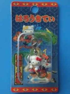 [ご当地キティ]はろうきてぃ義経&弁慶ファスナーマスコットチャーム弁慶2004