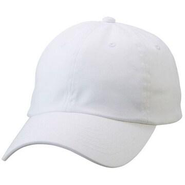 コットン ツイル ロー キャップ ホワイト