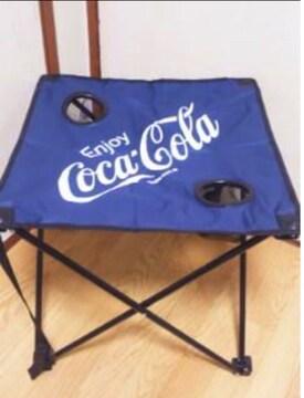 ■コカコーラ*ビーチテーブル(ドリンクホルダー, 専用キャリーバッグ付)*ネイビ-■