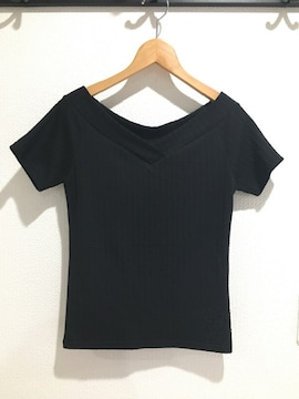レスポワール Lespoir 半袖 トップス Tシャツ 無地 黒 ブラック
