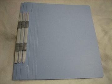 KOKUYO 紙ファイル A4縦 ブルー 3冊 フラットファイル