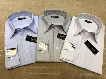 新品・長袖ワイシャツ ストライプ(い) 3枚セット LLサイズ