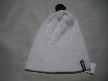mb503 男 RIP CURL リップカール ボンボン付き ニット帽 白