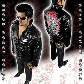 不動明王 中綿 ジャケット ヤクザ オラオラ メンズ 服 上着 和柄 18012■XL