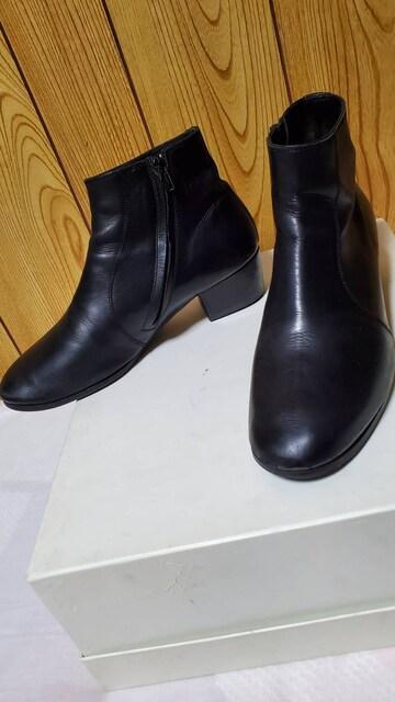 正規 ディオールオム 4.5 タンゴヒールブーツ黒 40 25~25.5cm 7H エディ期 ドレス  < ブランドの