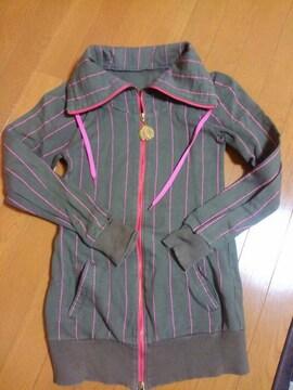 ☆USED☆LB-03☆ダブルファスナー丈長ジャケット☆カーキ