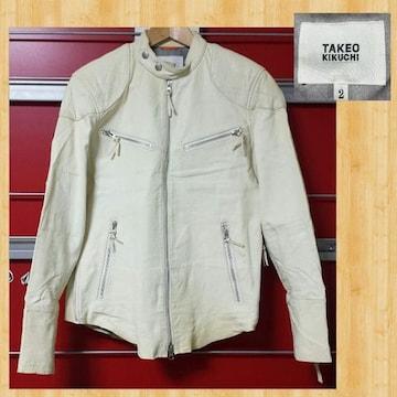 購入10万 TAKEO KIKUCHI タケオキクチ シングルライダース 羊革  2