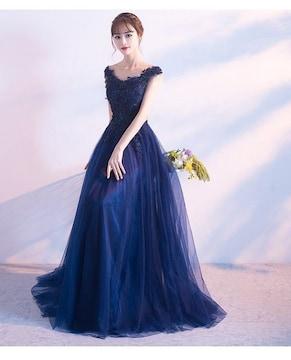 Mサイズ ドレス ワンピース ブルー