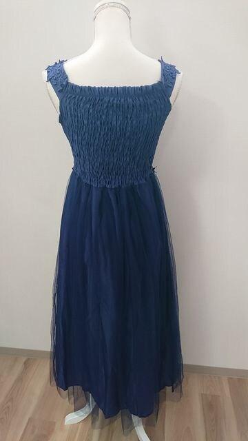Mサイズ ドレス ワンピース ブルー < 女性ファッションの
