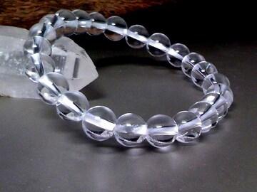 天然本水晶8ミリ数珠