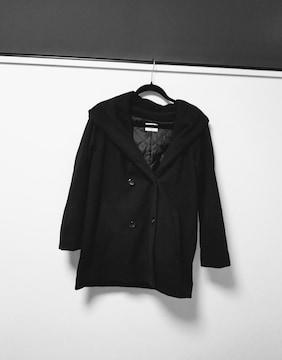 EGOIST◆エゴイストフード付きコート黒F