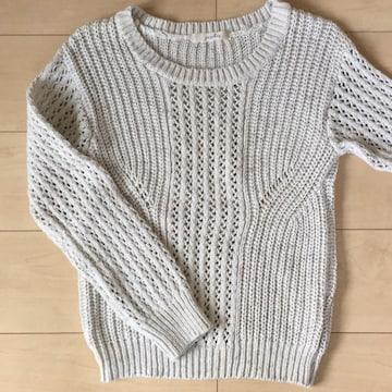 pageboy☆白☆長袖ニット☆セーター☆ホワイト☆ざっくり編み