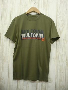 即決☆ジャックウルフスキン  ロゴ 半袖Tシャツ OLV/M  速乾 耐久