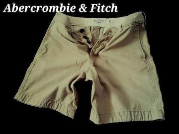 【Abercrombie & Fitch】Vintage プレッピーフィット ショートパンツ 31/Khaki