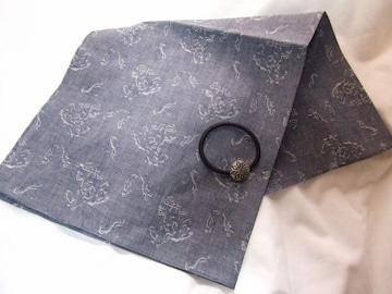 ハンカチ綿スカーフ日本製シルバーゴム二点セット新品チーフ