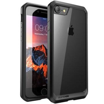 iPhone8 ケース iPhone7ケース 耐衝撃透明/黒い