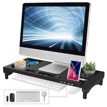 モニター台 4 USBポート パソコン