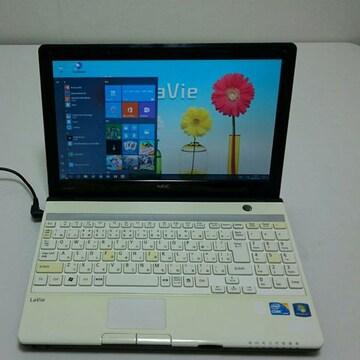 ★高速i3★サポート充実! 初心者OK LM550 白色Office NEC
