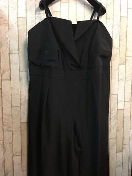 新品☆8L♪黒系のオールインワンパンツドレス☆j968