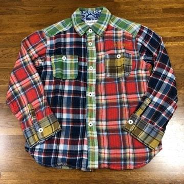 美品 RUGGEDWORKS ラゲッドワークス 長袖 チェックシャツ 130
